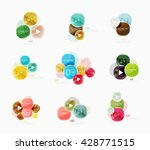 collection of circle web boxes. ... | Shutterstock .eps vector #428771515
