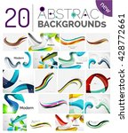set of abstract color waves ... | Shutterstock .eps vector #428772661