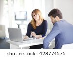 portrait of investment advisor... | Shutterstock . vector #428774575