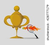 tennis design. sport icon.... | Shutterstock .eps vector #428777179