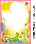 bright children's frame with... | Shutterstock . vector #42878026