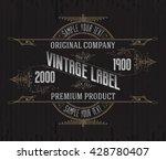vintage typographic label... | Shutterstock .eps vector #428780407