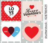 happy valentine day cards... | Shutterstock .eps vector #428780425