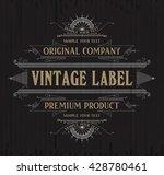 vintage typographic label... | Shutterstock .eps vector #428780461