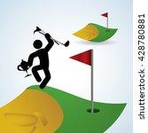 golf design. sport icon.... | Shutterstock .eps vector #428780881