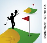 golf design. sport icon.... | Shutterstock .eps vector #428781115