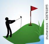 golf design. sport icon.... | Shutterstock .eps vector #428781895