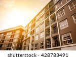 apartment building   vintage... | Shutterstock . vector #428783491