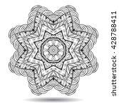 mandala element. symmetric... | Shutterstock .eps vector #428788411