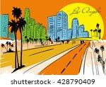 los angeles skyline  california ... | Shutterstock .eps vector #428790409