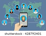 global communication between... | Shutterstock .eps vector #428792401