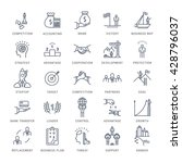 set vector line icons with open ... | Shutterstock .eps vector #428796037