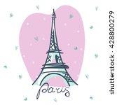 vector eiffel tower. paris | Shutterstock .eps vector #428800279