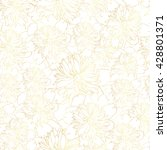 gold vector pattern with peony...   Shutterstock .eps vector #428801371