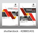 red fold annual report brochure ... | Shutterstock .eps vector #428801431