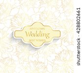 gold wedding invitations with... | Shutterstock .eps vector #428802661