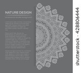 vector nature decor for your... | Shutterstock .eps vector #428806444