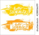 summer vacation and travel...   Shutterstock .eps vector #428806699