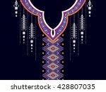 geometric ethnic oriental... | Shutterstock .eps vector #428807035