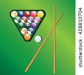 billiard balls in triangle and... | Shutterstock . vector #428810704