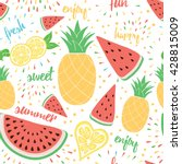 summer colorful fresh and sweet ... | Shutterstock .eps vector #428815009