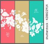 template invitation cards.... | Shutterstock .eps vector #428822914