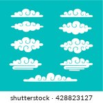 clouds sky vector illustration... | Shutterstock .eps vector #428823127