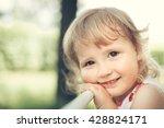 happy two years girl portrait | Shutterstock . vector #428824171