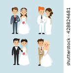 married design. wedding icon.... | Shutterstock .eps vector #428824681