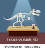 Постер, плакат: Tyrannosaur Rex bones skeleton