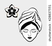 spa center design. skin care... | Shutterstock .eps vector #428837551
