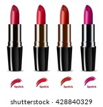 colorful lipstick | Shutterstock .eps vector #428840329