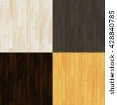 realistic wooden floor parquet... | Shutterstock .eps vector #428840785