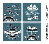 set of summer cards with... | Shutterstock .eps vector #428842894