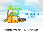 vacation travelling concept.... | Shutterstock .eps vector #428846485