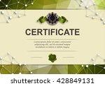 elegant template of diploma... | Shutterstock .eps vector #428849131
