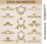 set of gold monograms for... | Shutterstock .eps vector #428850277