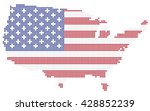 dotted usa map with american... | Shutterstock .eps vector #428852239