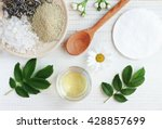 natural herbal skin care... | Shutterstock . vector #428857699