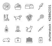 veterinary set | Shutterstock .eps vector #428862331