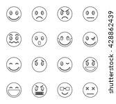 smile set | Shutterstock .eps vector #428862439