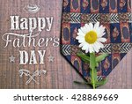 Small photo of Happy father's day greeting card. Father's day background. Holiday card with isolated graphic elements, text, tie and daisy. Can use as ad, promotion, poster, flyer, blog, article, marketing, advert.