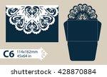 layout congratulatory envelope...   Shutterstock .eps vector #428870884