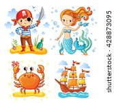 set of vector illustrations on... | Shutterstock .eps vector #428873095