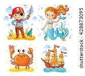 set of vector illustrations on... | Shutterstock .eps vector #428873095