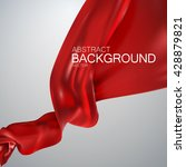 red silk fabric. vector... | Shutterstock .eps vector #428879821