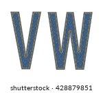 denim fabric letters. vector...   Shutterstock .eps vector #428879851