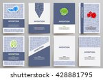 corporate identity vector... | Shutterstock .eps vector #428881795
