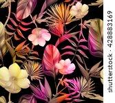 seamless tropical flower  plant ... | Shutterstock . vector #428883169