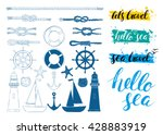 vector set of nautical elements....